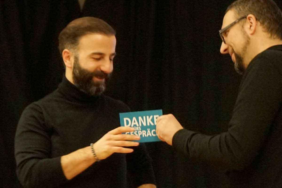 Lokal-Forum Postkarte als Dankeschön für Cengiz Akaygün