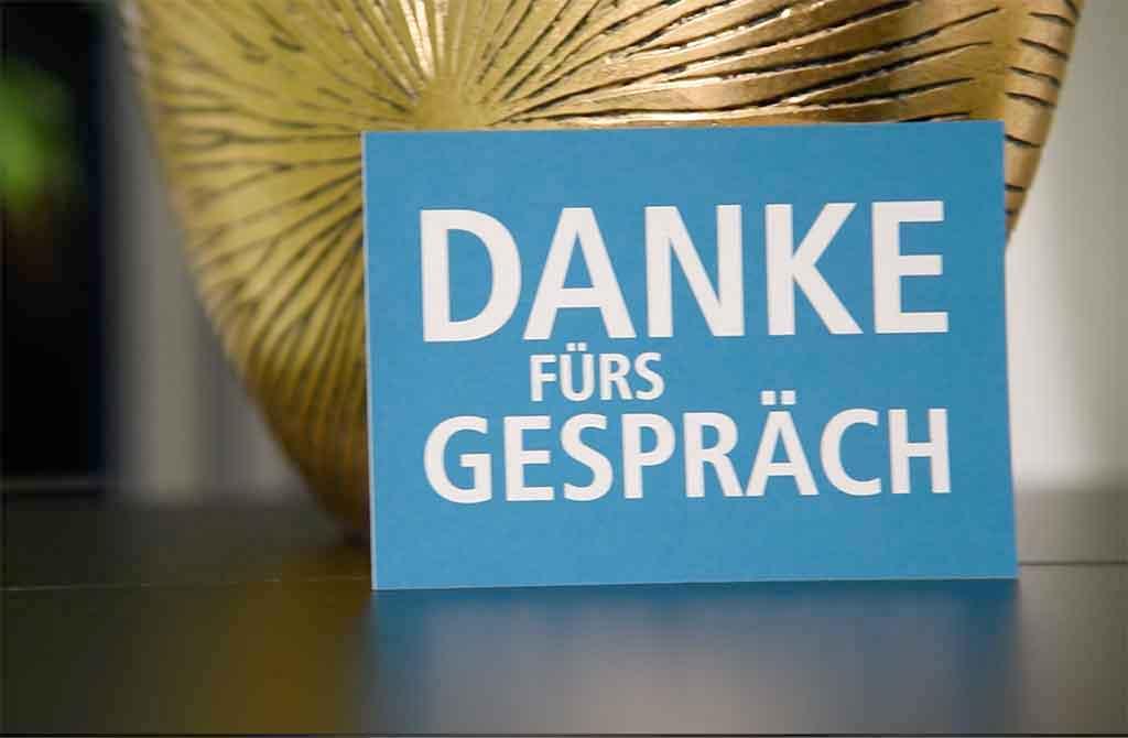 Postkarte Danke fürs Gespräch vom Lokal-Forum e.V.