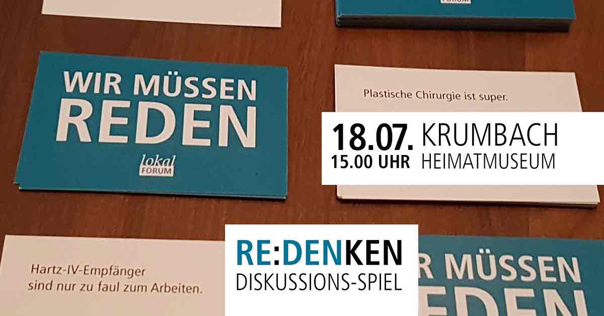 Reden Denken Diskussion Spiel Debatte Karten Lokal-Forum