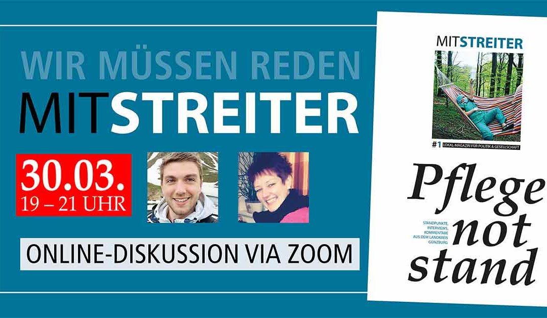 Pflegenotstand: Mitstreiter-Diskussion via Zoom